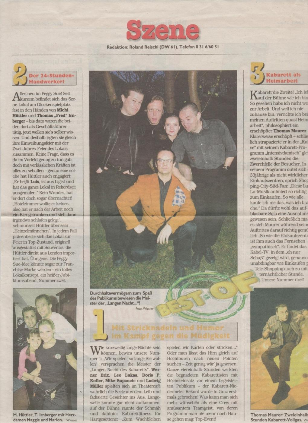 Die lange Nacht des Kabaretts 2000