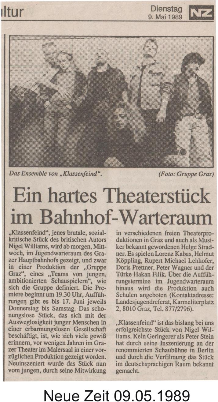 Der Klassenfeind 1989 - Zeitung