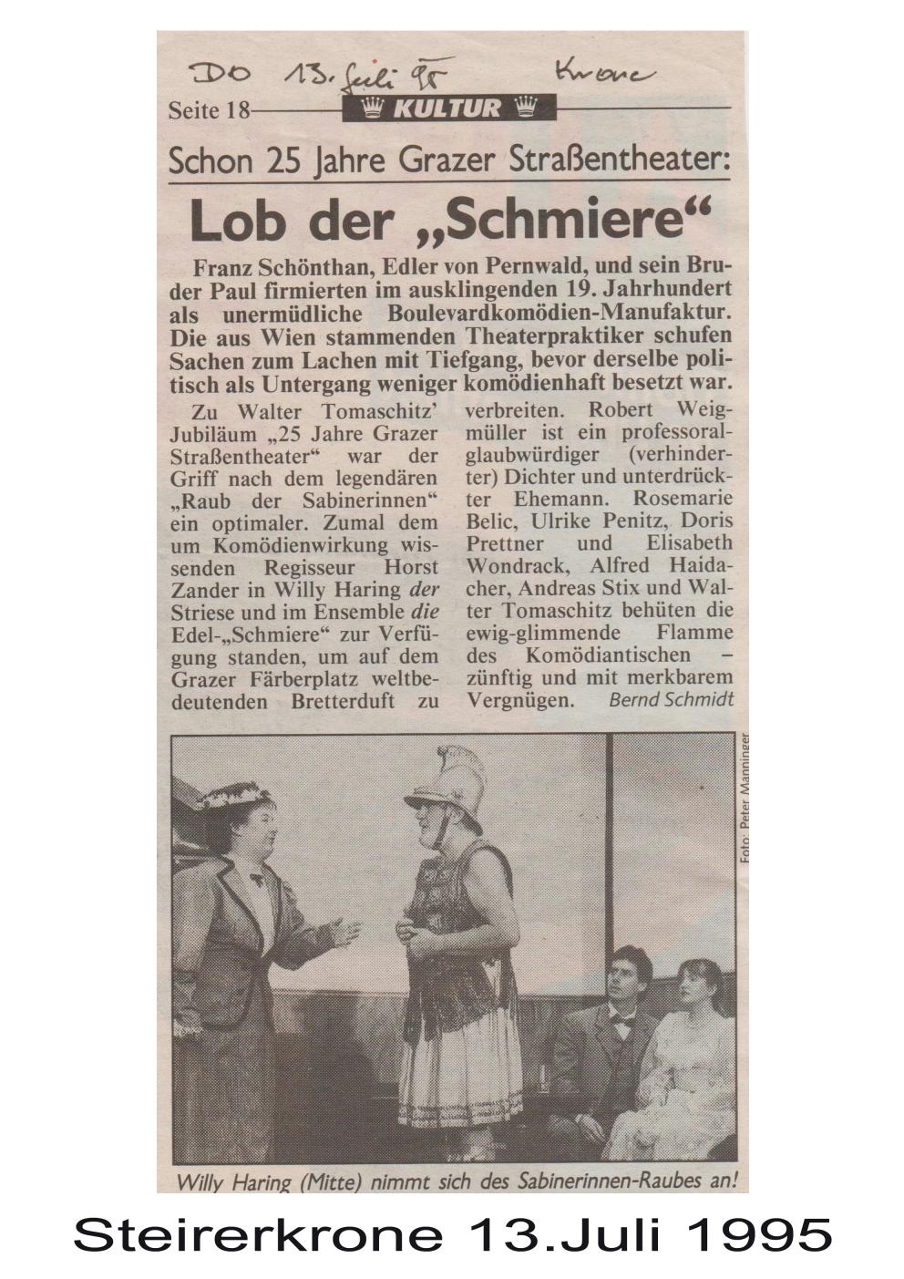 Der Raub der Sabinerinnen 1995