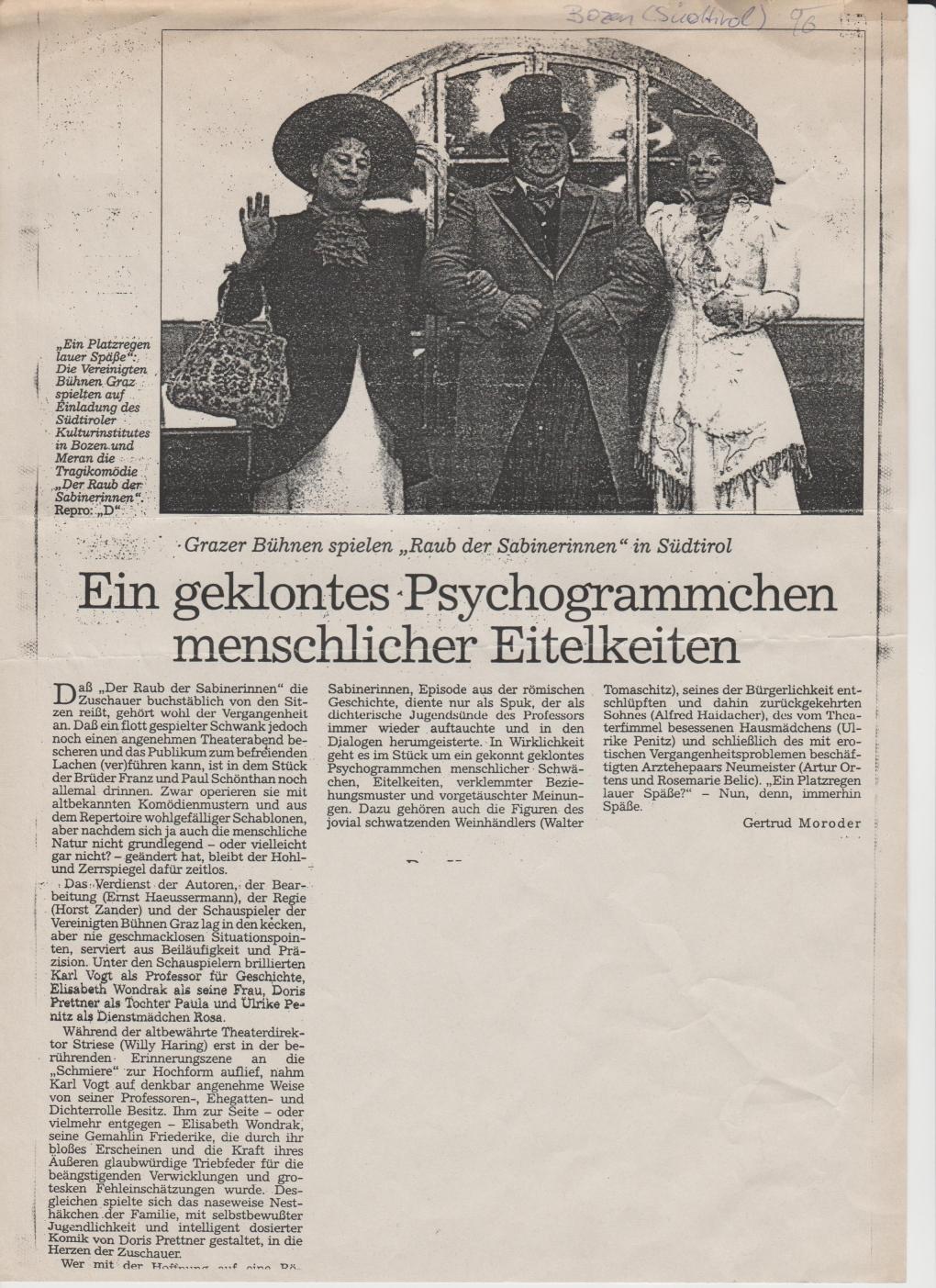 Der Raub der Sabinerinnen 1996
