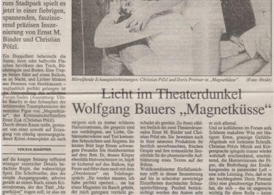 Magnetküsse 1990 - Zeitung