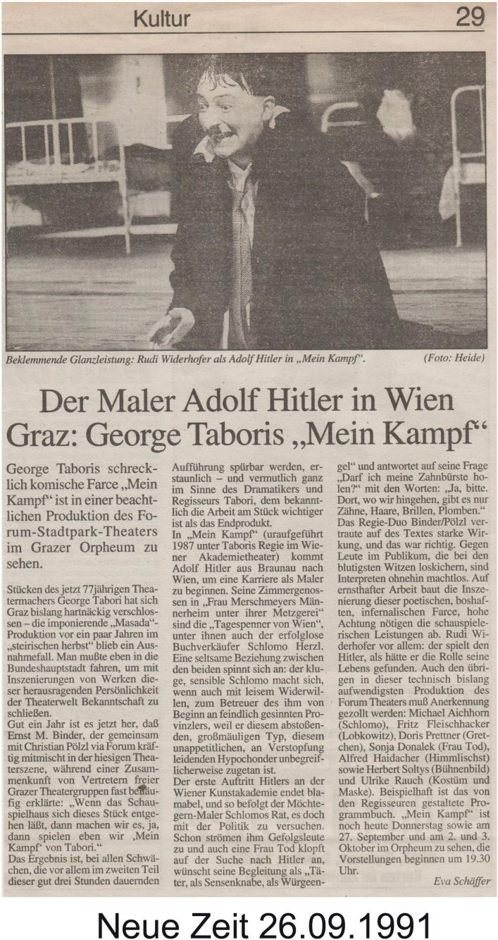 Mein Kampf 1991 - Zeitung