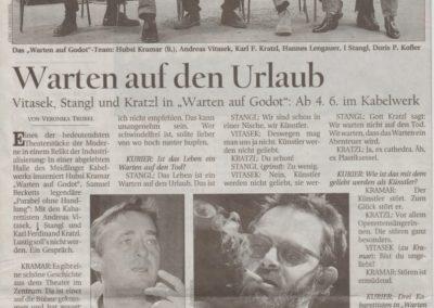Warten auf Godot 2001 - Zeitung