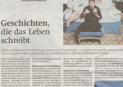 Wenn schon denn schon  - Berndorf - Zeitung 2